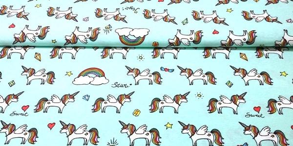Tela loneta unicornios