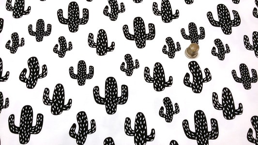 Detalle tela jersey cactus