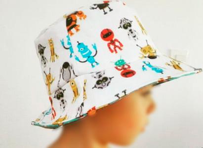Tela para sombrero robots