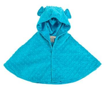 Abrigo cobertor minky turquesa