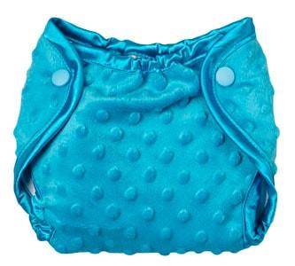 Cobertor pañal bebe tela minky azul turquesa