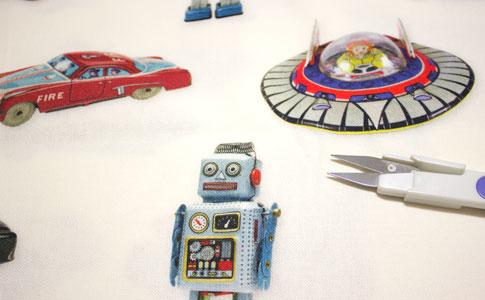 Detalle tela robots