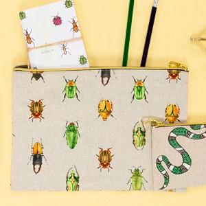 Estuche loneta escarabajos