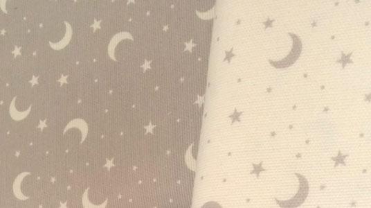 Tela pique lunas y estrellas