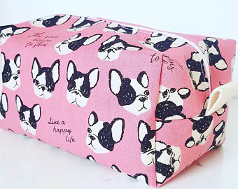 Neceser tela pink dogs