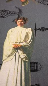 Detalle tela princesa Leia Star Wars