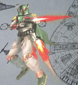 Detalle Boba Fett Star Wars tela