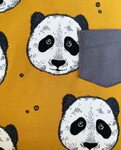 Jersey tela camiseta osos mostaza
