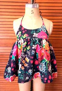 Vestido infantil tela flores
