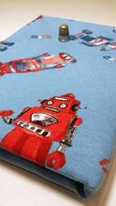 Detalle tela robots loneta