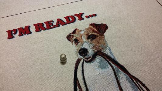 Detalle panel retrato perrito