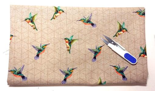 Loneta con colibris detalle