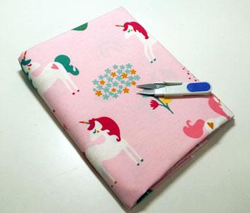 Loneta unicornios y arcoiris rosa - retal