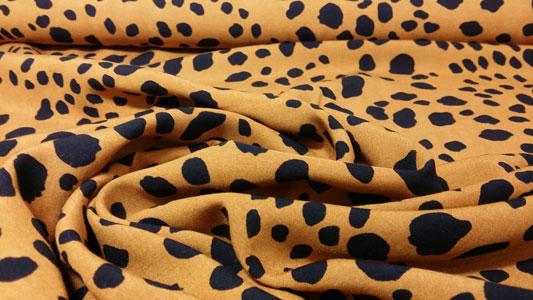 Tela de viscosa leopard print