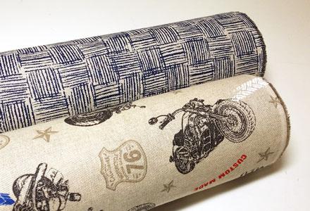 Loneta con dibujos de motos vintage