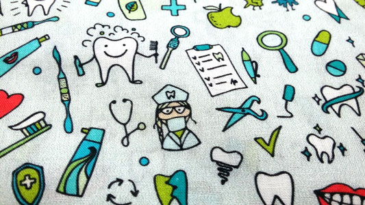 Detalle dibujo tela dentistta