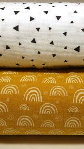 Detalle de muselinas telas