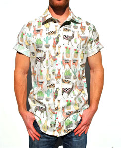 Camisa tela llamas