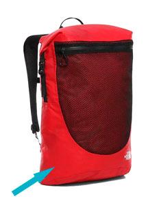 Tela impermeable roja para mochila