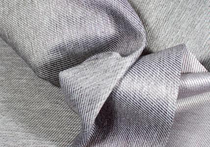 Detalle tela poliester impermeable gris vaquero