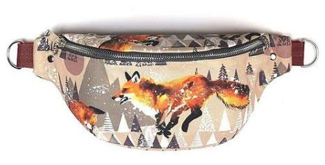 Bolso de cintura con tela impermeable zorros