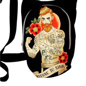 Bolso tela estilo tattoo