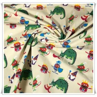 Retal tela punto dragones 50 cms