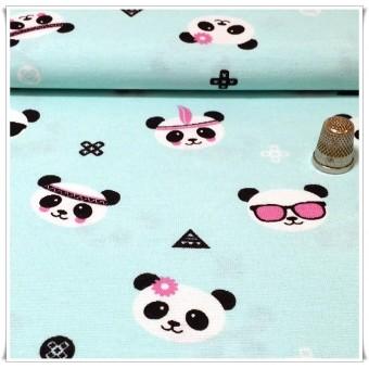 Loneta estampada osos panda