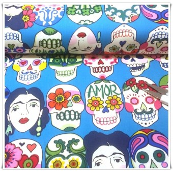 Tela Frida turquesa