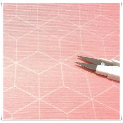 Loneta cubos 3d rosa