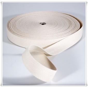 Cinta de cinturon blanco roto 40mm