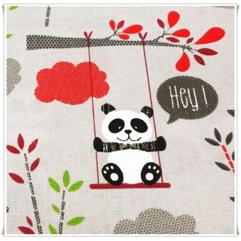 Retal osos panda gris 100 cms