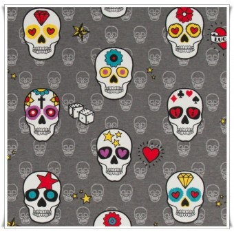 Loneta mexican skulls