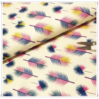 Tela algodon peacock feathers