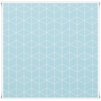 Loneta cubos 3d azul