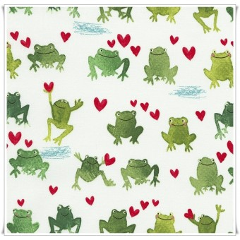 Tela watercolor frogs