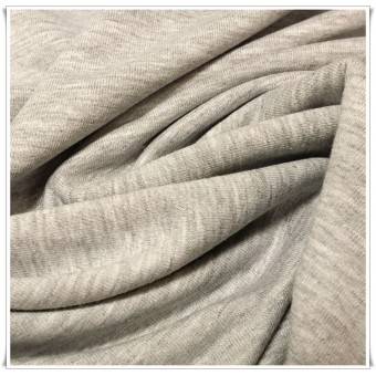 Tela de jersey gris claro