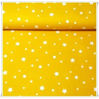 Retal tela estrellas amarillo 68x44cms