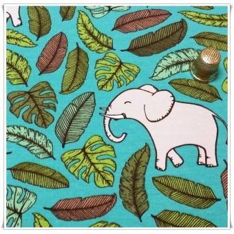 Sudadera fina elefantes y hojas