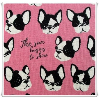 Fat quarter pink dogs