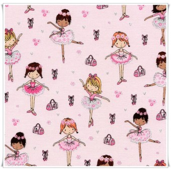 Fat quarter bailarinas brillos