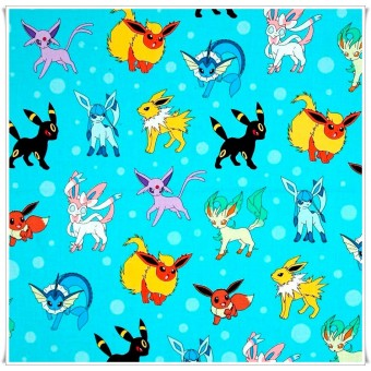 Fat quarter pokemon turquesa
