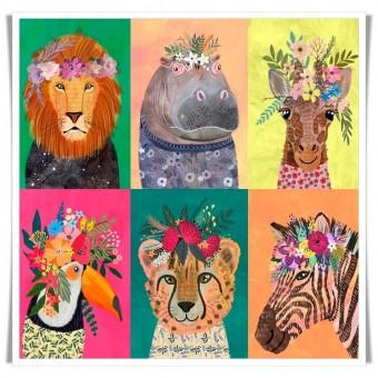Tela animales retratos