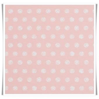Loneta bolas algodones rosa