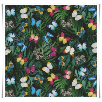 Loneta premium mariposas botanic