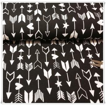 Retal loneta flechas negro 90 cms