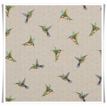 Retal loneta colibris 50x140cms