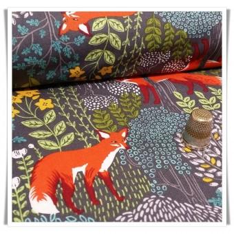 Retal tela nice foxes 70x55 cms
