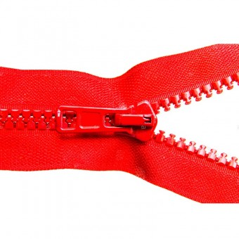 Cremallera inyectada 70cms roja