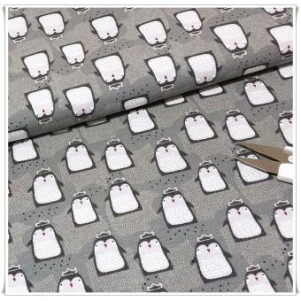 Retal jersey pinguinos gris 67 cms